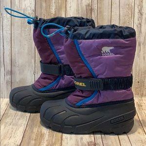 Sorel Girl's Sz 1 Waterproof Snow Boots Insulated
